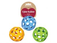 Cyber Lattice Football Dog Toy